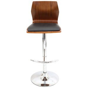 Jarvis Adjustable Height Swivel Bar Stool by Wade Logan