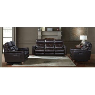 Gala Leather Reclining Configurable Living Room Set by Armen Living
