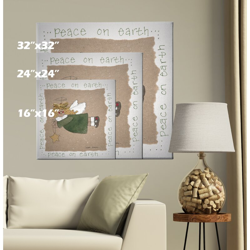 The Holiday Aisle Angel Painting Print On Wrapped Canvas Wayfair