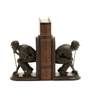 Polystone Golf Bookends (Set Of 2)