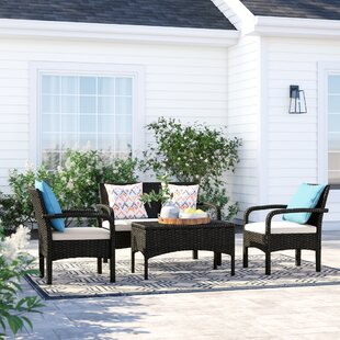 Bayside 4 Piece Rattan Sofa Seating Group with Cushions by Sol 72 Outdoor