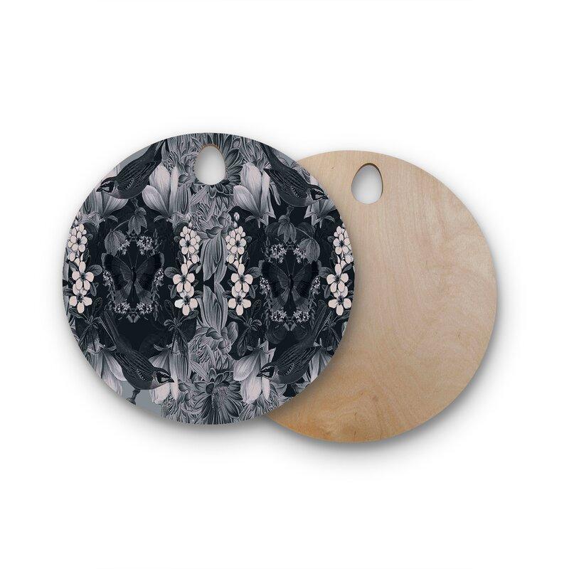East Urban Home Suzanne Carter Birchwood Magnolia Cushion Cutting Board  Shape: Round