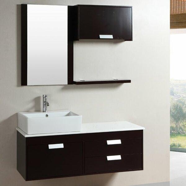 Kokols 52 Quot Wall Mounted Single Bathroom Vanity Set With