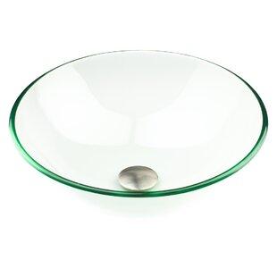 Comparison Glass Circular Vessel Bathroom Sink By Inello