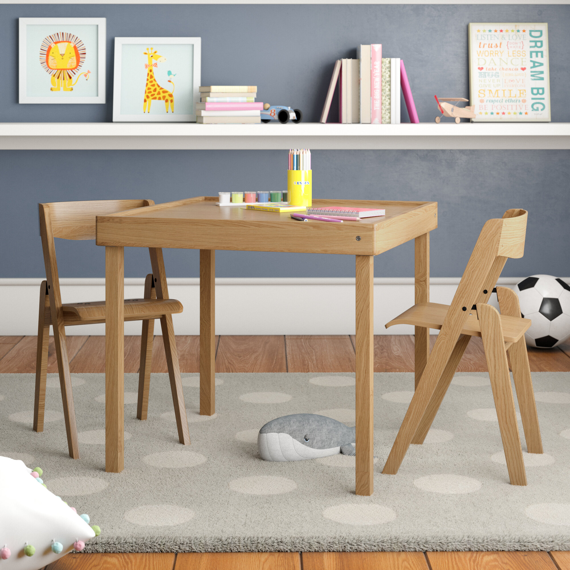 Viv + Rae Morris Kids 3 Piece Square Table And