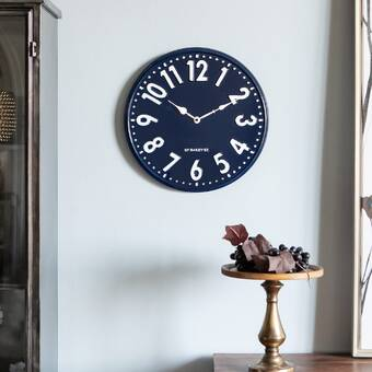 East Urban Home Juin Wall Clock Wayfair