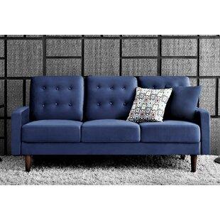 Dark Blue Velvet Sofa | Wayfair