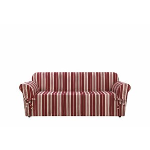 South Hampton Stripe Box Cushion Sofa Slipcover by Sure Fit