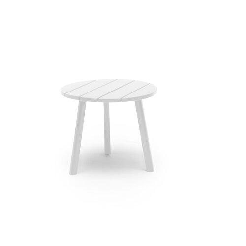 Beistelltisch Allamanda aus Holz Garten Living Farbe: Weiß