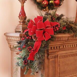 christmas mantle corner piece