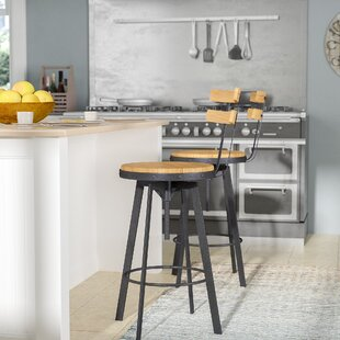 Gloria Adjustable Height Swivel Bar Stool