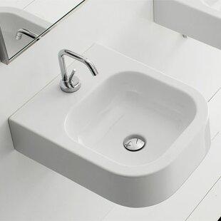 Coupon Next Ceramic Rectangular Vessel Bathroom Sink ByScarabeo by Nameeks