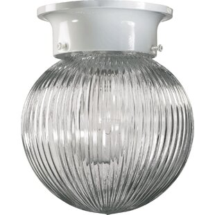Lucretia Ribbed Ball Semi Flush Mount by Ebern Designs