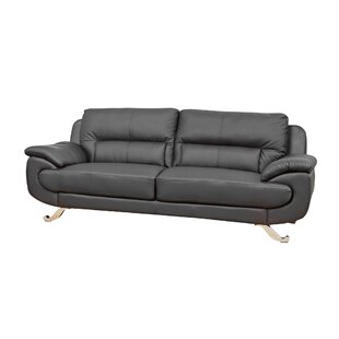 Fiscus Genuine Leather 3 Seater Sofa By Ebern Designs