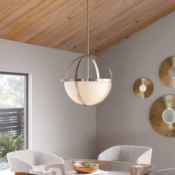 Basco 3 Light Shaded Globe Chandelier Reviews Allmodern