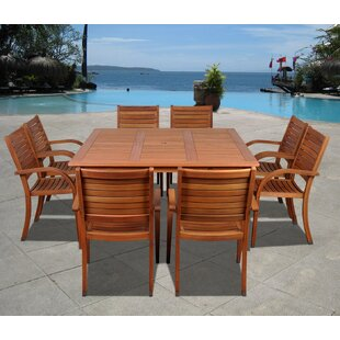Beachcrest Home Frye 9 Piece Dining Set