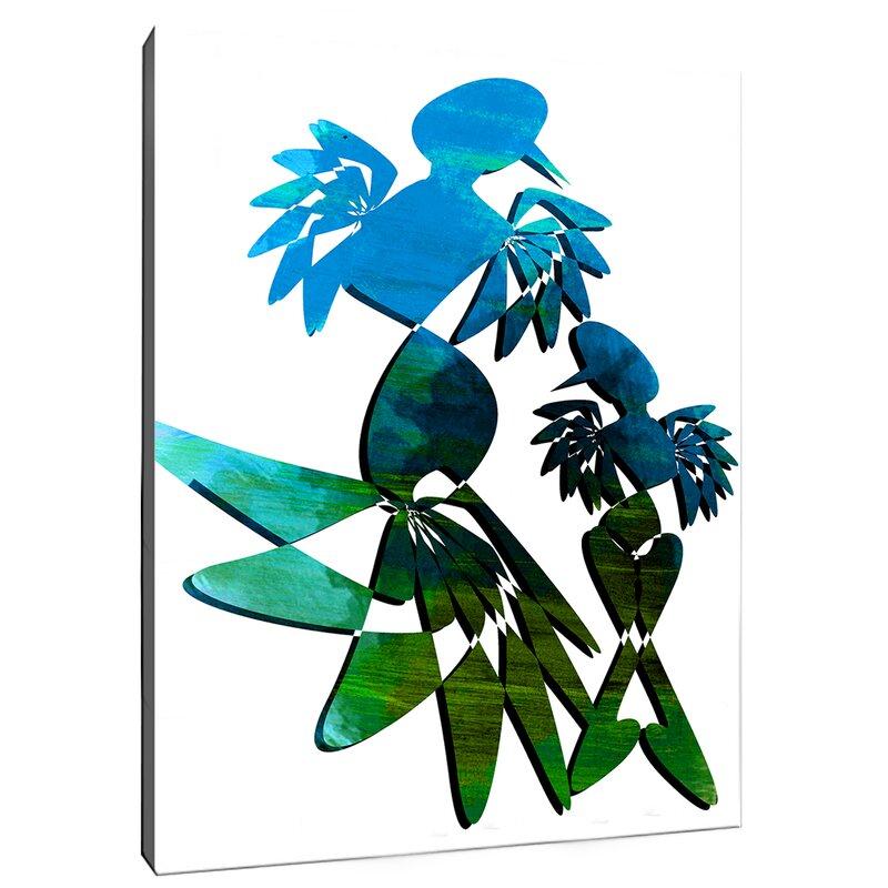 Safiyajamila Tango Geometric Dancing Graphic Art On Wrapped Canvas Wayfair