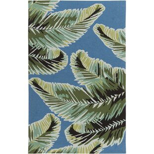 Averill Dark blue/ Emerald Indoor/Outdoor Area Rug