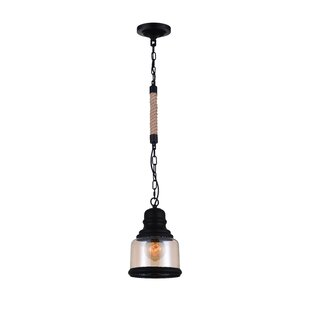 1-Light Bell Pendant by CWI Lighting