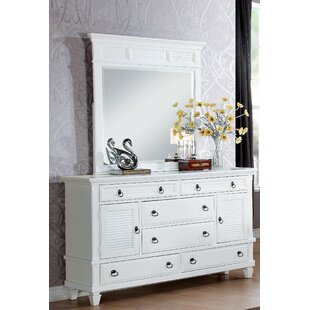 Canora Grey Mcnamara 6 Drawer Dresser with Mirror