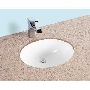 Comparison Ceramic Oval Undermount Bathroom Sink with Overflow ByWinfield products