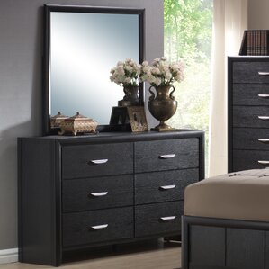 Seger 6 Drawer Dresser with Mirror by Red Barrel Studio