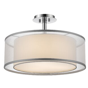 Selzer 3-Light Semi Flush Mount by Orren Ellis