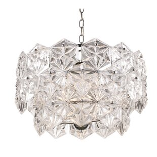 House of Hampton Burton 4-Light Crystal Chandelier