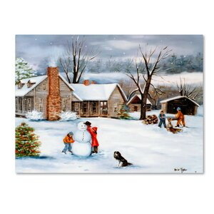 'The Snowman' Print on Wrapped Canvas