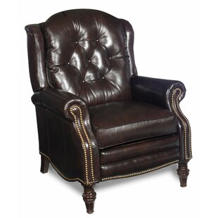 Victoria High Leg Leather Manual Recliner by Bradington-Young