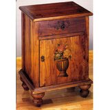 Potted Flowers Colonial Accent Cabinet by Meyda Tiffany