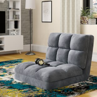 Micro-Suede 5-Position Adjustable Convertible Flip Floor Game Chair by Latitude Run