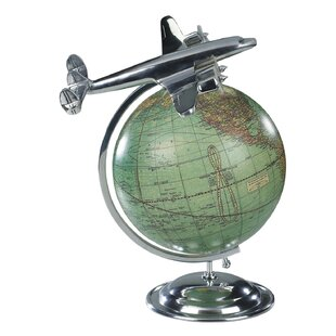 "Black Earth World Globe Christmas Ornament  Travels Vacation NNT 3"""
