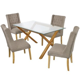 Riffe Dining Table And 4 Chairs By Ophelia & Co.