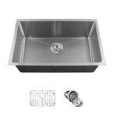 """29"""" L x 18"""" W Undermount Kitchen Sink with Basket strainer"""