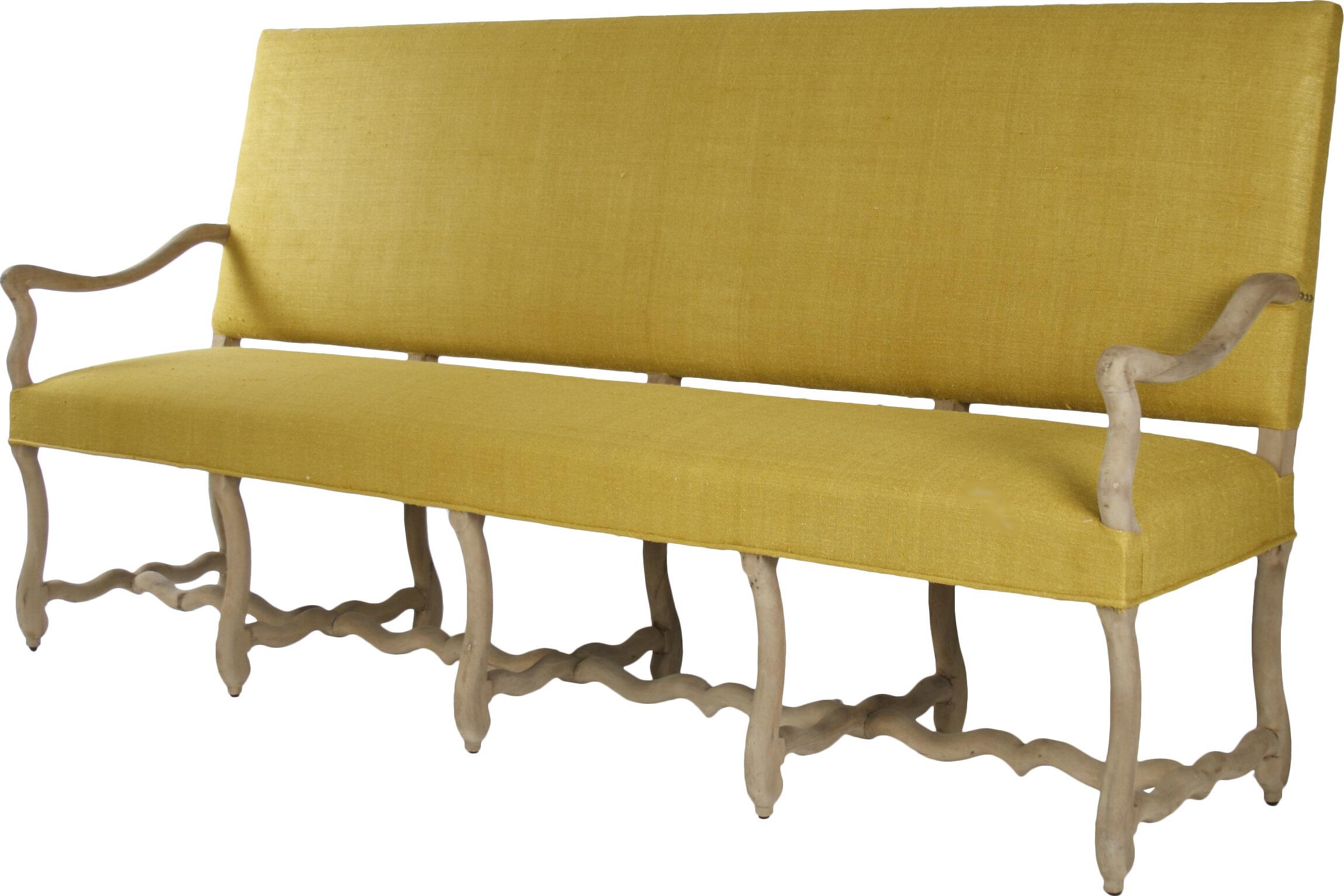 Veronike Silk Fabric Bench By Zentique