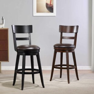 Caskey 29 Swivel Bar Stool Red Barrel Studio