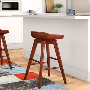 Manzer 24 Swivel Bar Stool Gracie Oaks