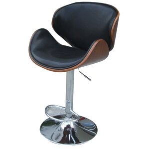 Zenon Adjustable Height Swivel Bar Stool by New Pacific Direct