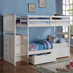 Churchman Twin over Twin Bunk Bed with Storage by Harriet Bee