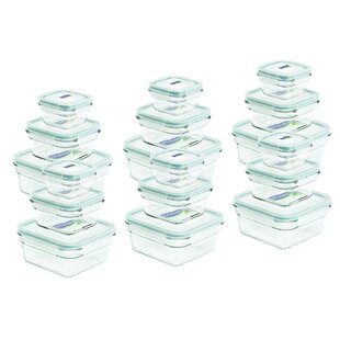 Square 18 Container Food Storage Set