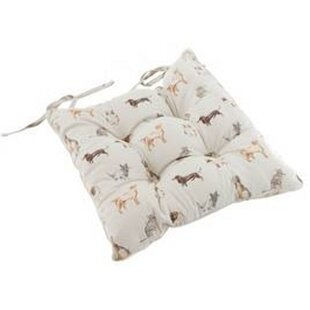 Cats And Dogs Garden Dining Chair Cushion (Set Of 4) Image