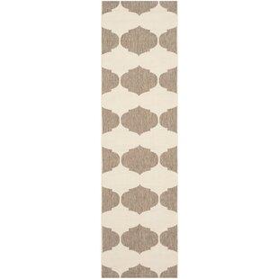 Short Beige/Brown Contemporary Rug ByWinston Porter