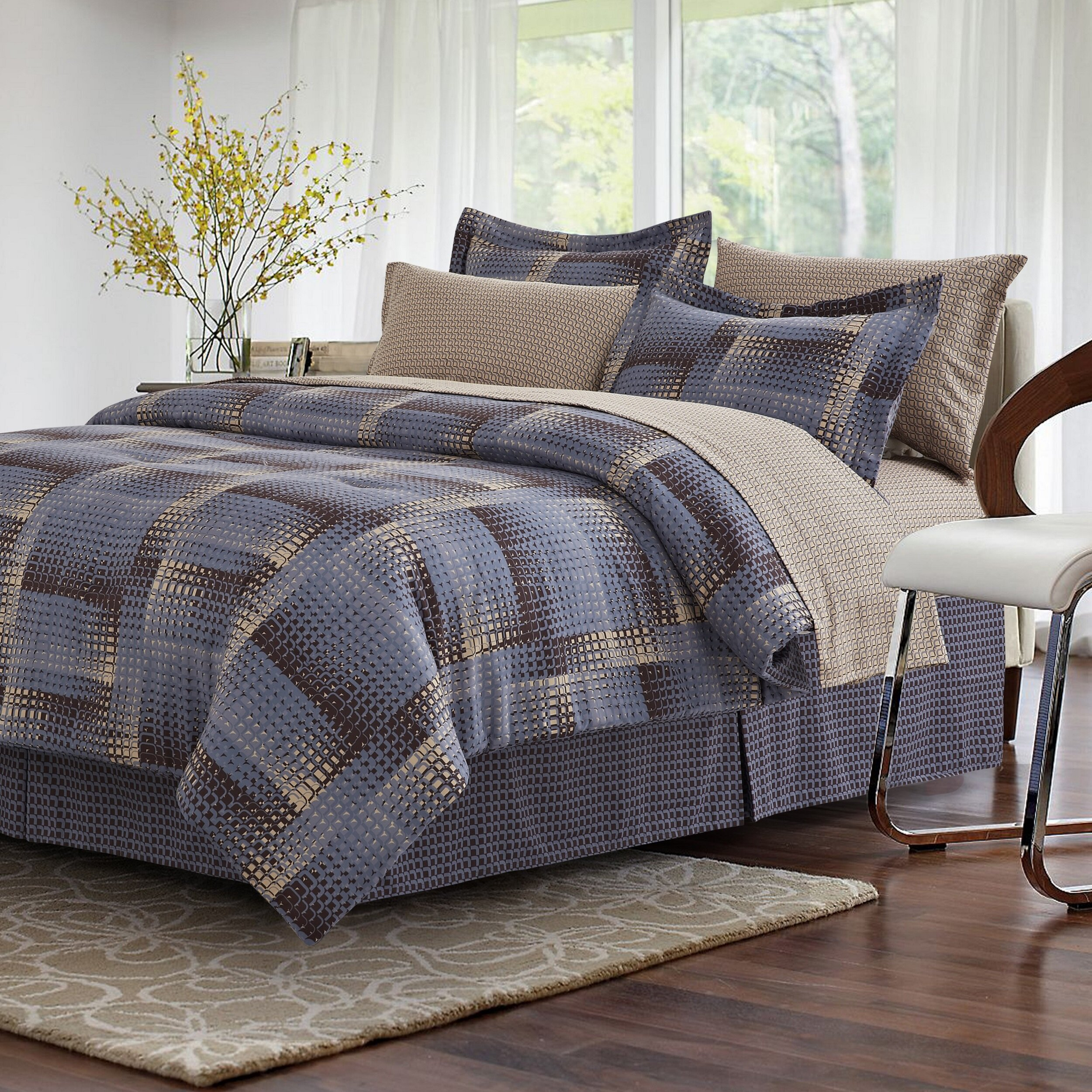 Latitude Run Gathney Reversible Comforter Set Reviews Wayfair