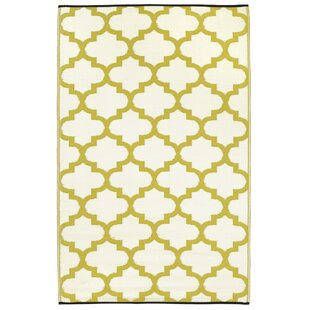 Tangier Green/Yellow Outdoor Rug by Latitude Vive
