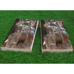 Custom Cornhole Boards White Tail Deer Buck Cornhole Game (Set of 2)