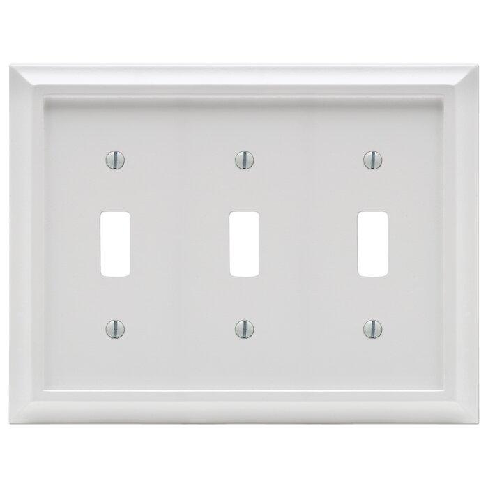 Deerfield 3 Gang Toggle Light Switch Wall Plate