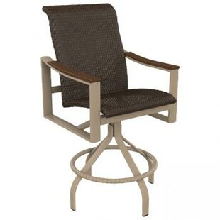 Brazo Woven Swivel Patio Bar Stool
