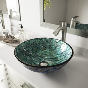 Best Choices Glass Circular Vessel Bathroom Sink By VIGO