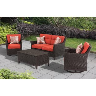Amboy 4 Piece Deep Seating Group with Cushion